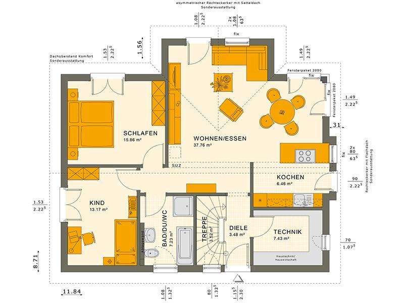 Grundriss Solution 87 V2 von Living Haus