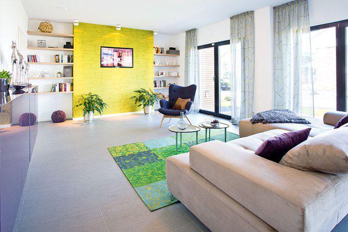 Musterhaus Wuppertal von Fingerhut Haus Wohnbereich
