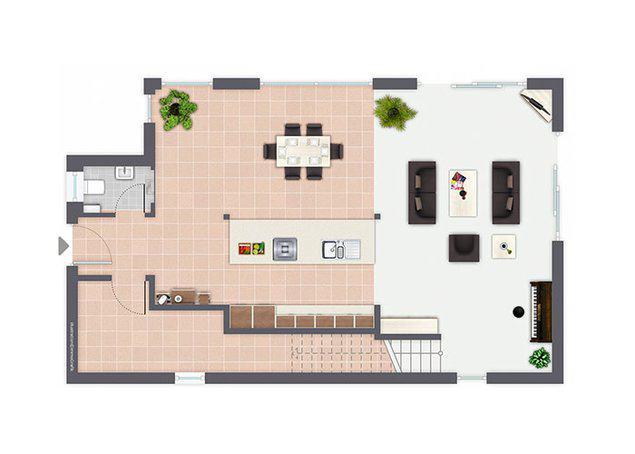 Grundriss Erdgeschoss Entwurf San Marco von Gussek Haus