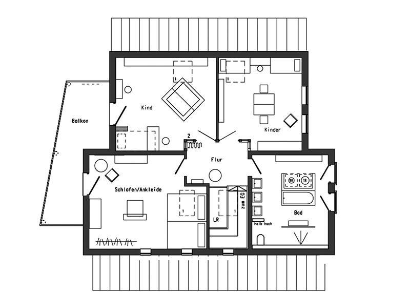 Grundriss Dachgeschoss - Young Family Home