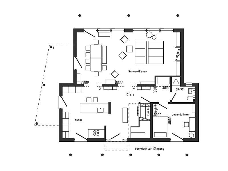 Grundriss Erdgeschoss - Young Family Home