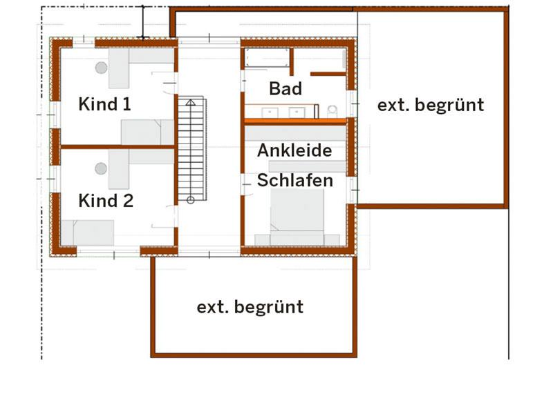 Grundriss Obergeschoss Bittermann und Weiss