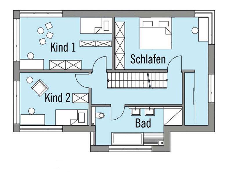 Grundriss Obergeschoss Wiesenhütter