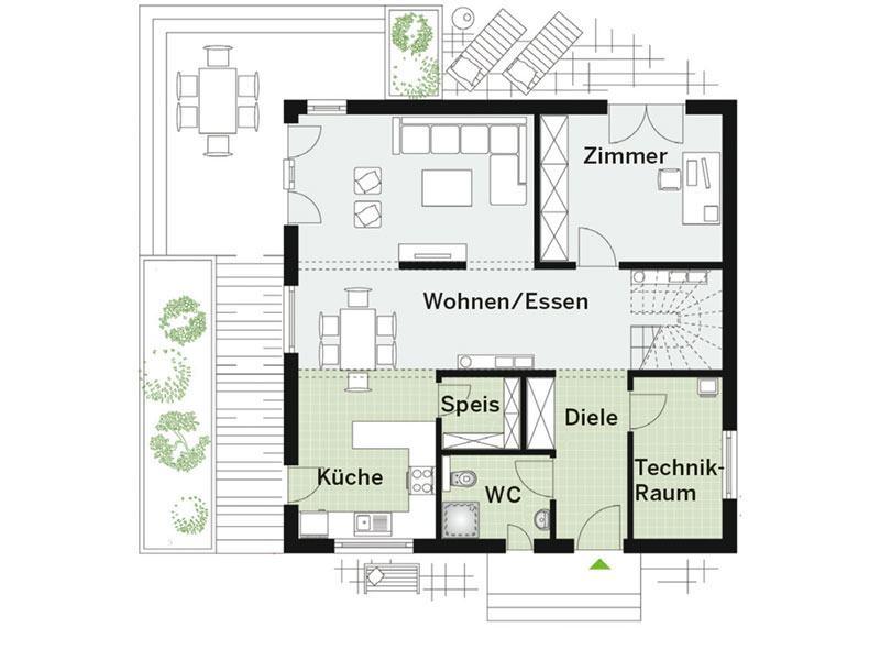 Grundriss Erdgeschoss Park 169W von Danwood