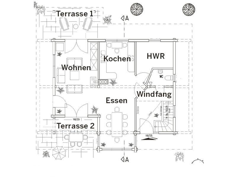 Grundriss Erdgeschoss Haus Mittelfranken von Fullwood