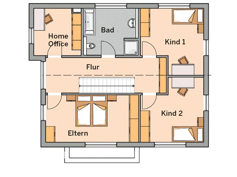 Grundriss Obergeschoss Haus Vero von Kern-Haus