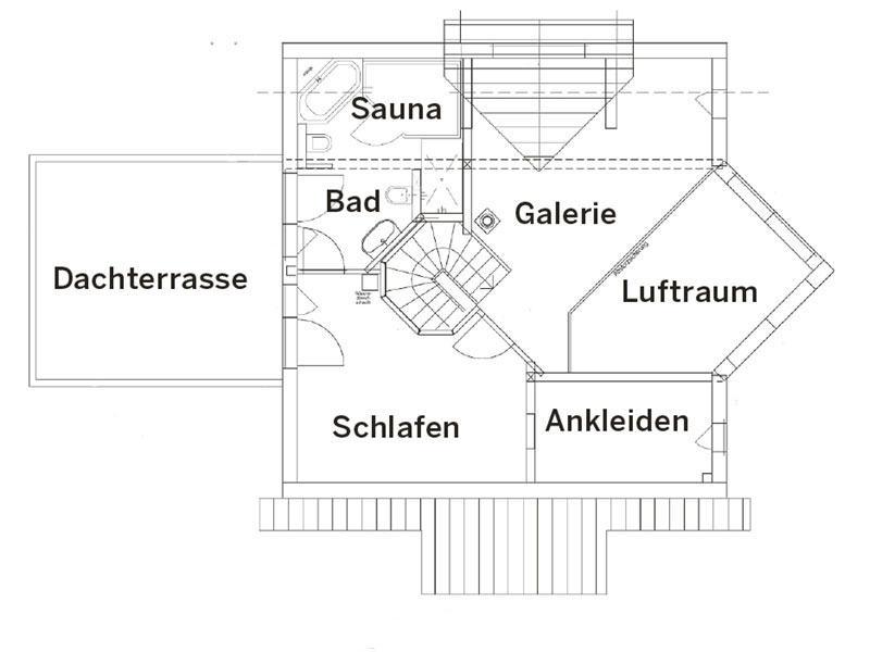 Grundriss Obergeschoss Landhaus 144 von Luxhaus
