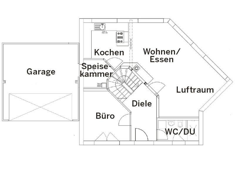 Grundriss Erdgeschoss Landhaus 144 von Luxhaus