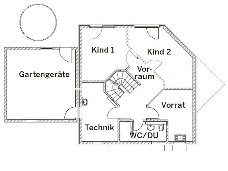 Grundriss Untergeschoss Landhaus 144 von Luxhaus