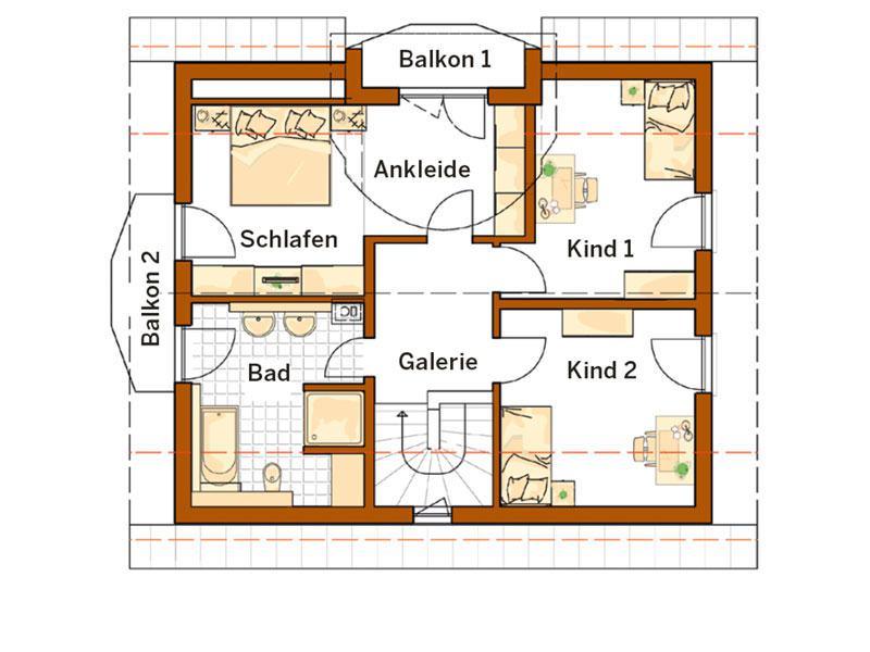 Obergeschoss Entwurf Linz (Grundriss: Rensch Haus)