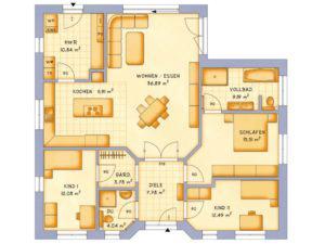 Grundriss Haus VarioCorner 125 von VarioSelf