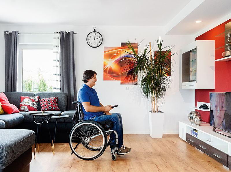 Wohnbereich barrierefreier Bungalow Haller von SchwörerHaus