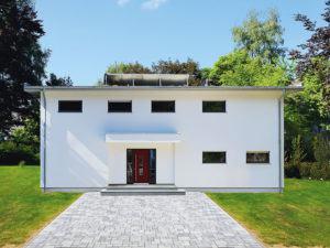 Frontansicht Haus Bittner von Fertighaus Weiss