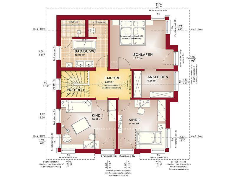 Grundriss Dachgeschoss Concept-M 152 Pfullingen (Bien-Zenker)