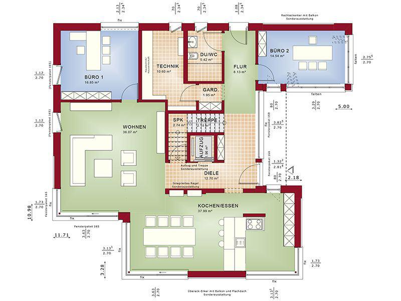 Grundriss Erdgeschoss Concept-M 211 Mannheim (Bien-Zenker)