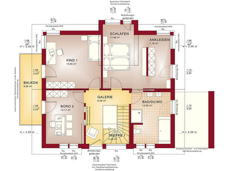 Grundriss Dachgeschoss Concept-M 167 Rheinbach (Bien-Zenker)