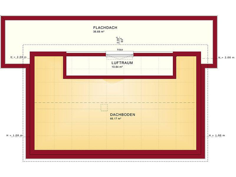 Grundriss Dachgeschoss Concept-M 188 Wuppertal (Bien-Zenker)
