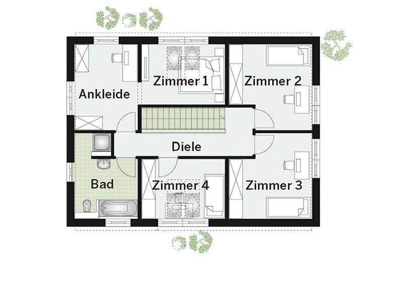 Grundriss Obergeschoss Point 157A (DAN-WOOD House)