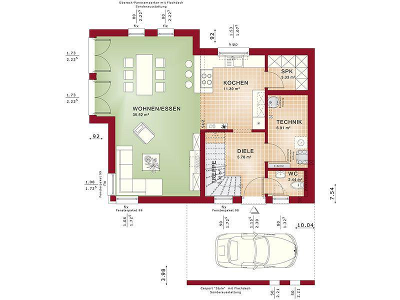 Grundriss Erdgeschoss Edition 3 V3 (Bien-Zenker)
