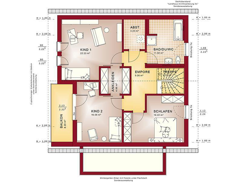 Grundriss Dachgeschoss Fantastic 165 V3 (Bien-Zenker)