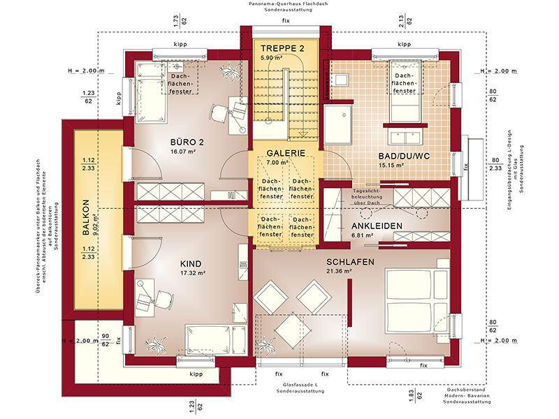 Grundriss Dachgeschoss Concept-M 153 Stuttgart (Bien Zenker)