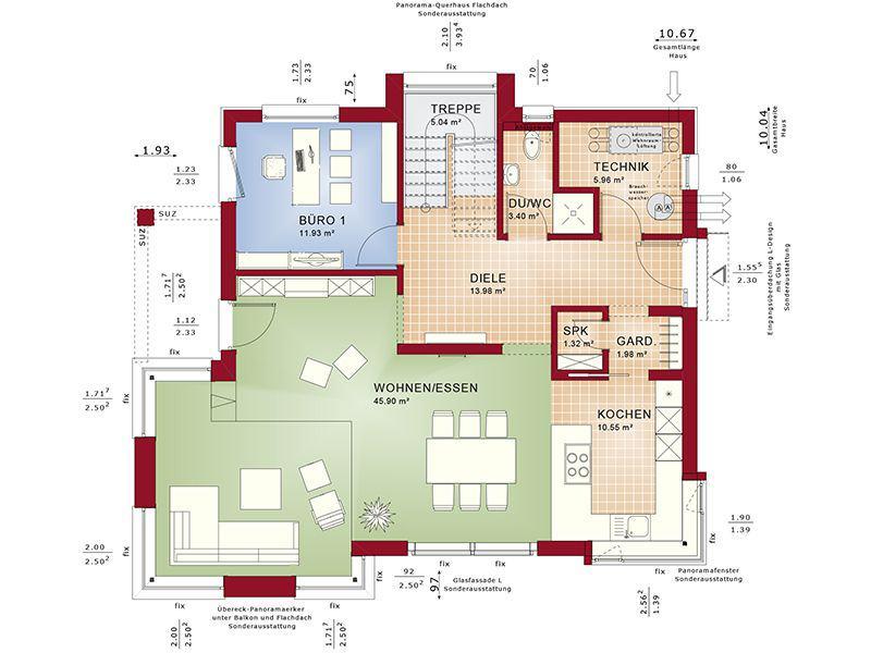 Grundriss Erdgeschoss Concept-M 153 Stuttgart (Bien Zenker)