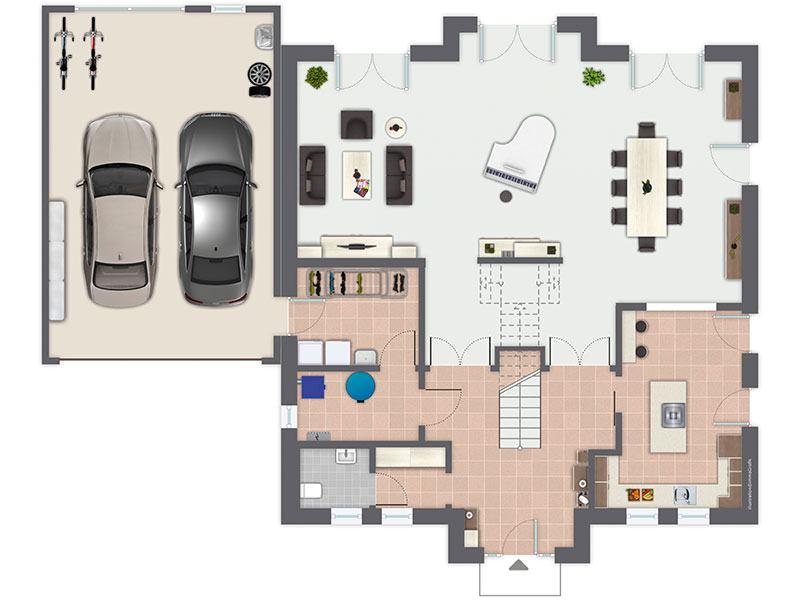 Grundriss Erdgeschoss Gaarden (GUSSEK HAUS)