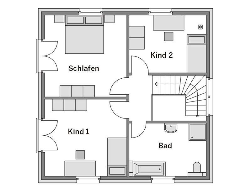 Grundriss Obergeschoss Arcus 130 von Heinz von Heiden