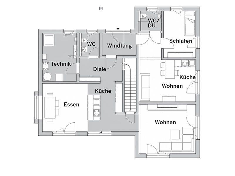 Grundriss Erdgeschoss Cube X (FischerHaus)