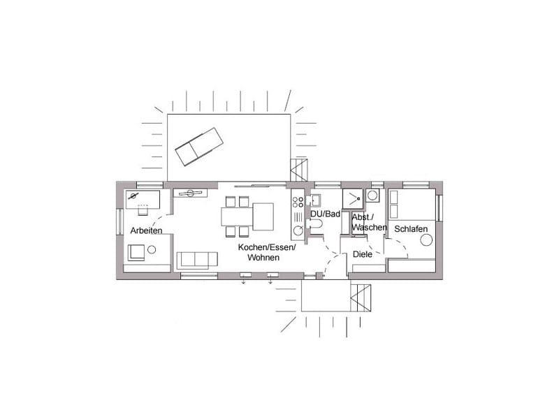 Grundriss FlyingSpace (Entwurf F 10-049.10) von SchwörerHaus