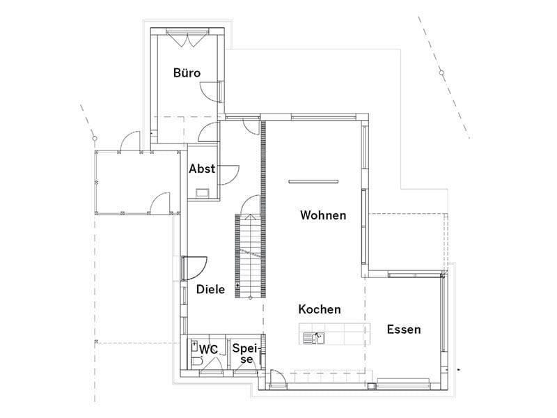 Grundriss Erdgeschoss Landhaus 207 von LUXHAUS