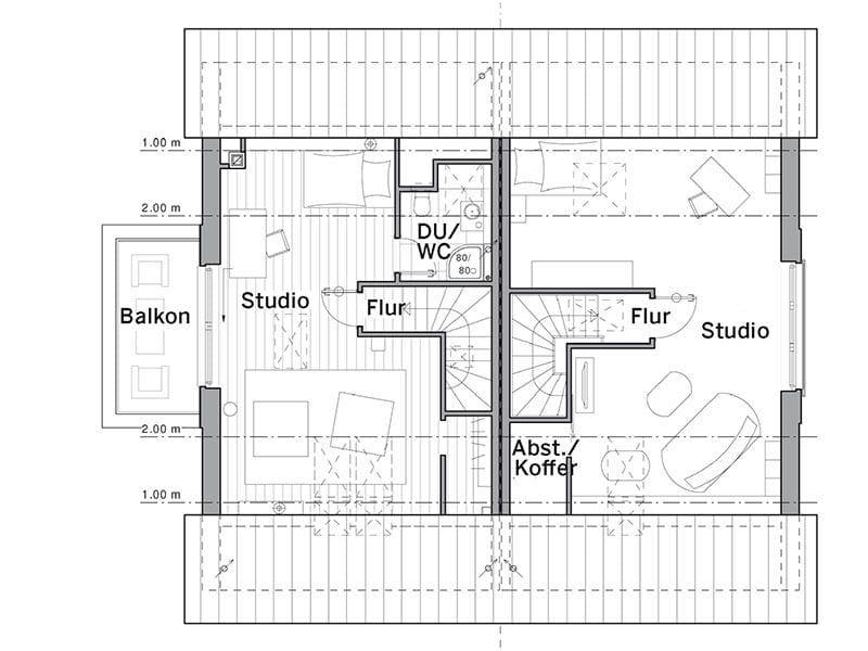 Grundriss Dachgeschoss Maxime 1000D (Viebrockhaus)