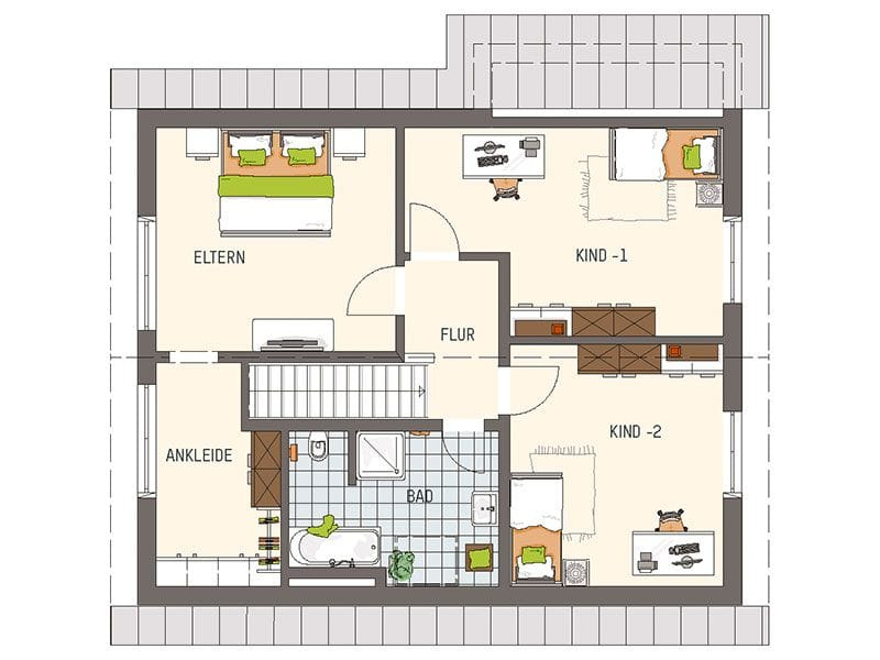 Grundriss Dachgeschoss NEO 311 (FingerHaus)