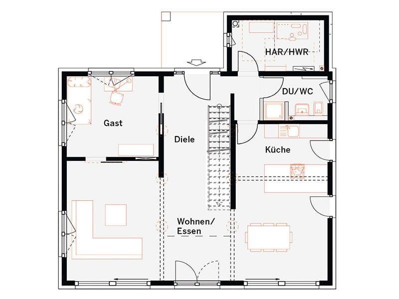Grundriss Erdgeschoss MH Offenburg (OKAL)
