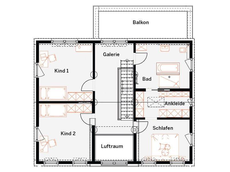 Grundriss Obergeschoss MH Offenburg (OKAL)