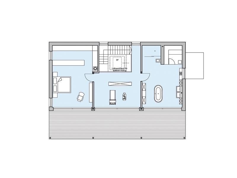 Grundriss Obergeschoss Haus Riederle von Baufritz