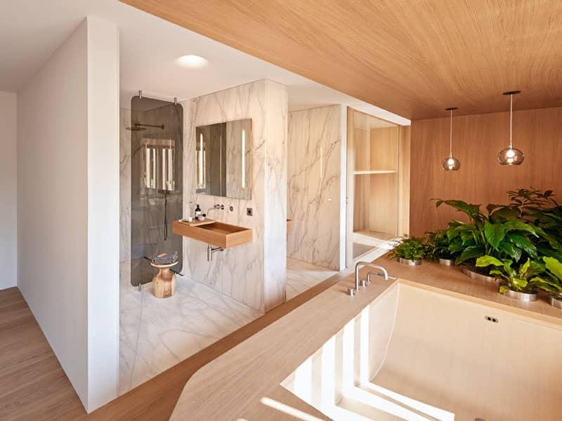 Badezimmer im Entwurf Haussicht von Baufritz