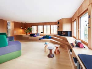 Wohnzimmer des Entwurfs Haussicht von Baufritz