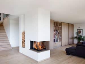 Wohnbereich im Haus Kieffer von Baufritz.