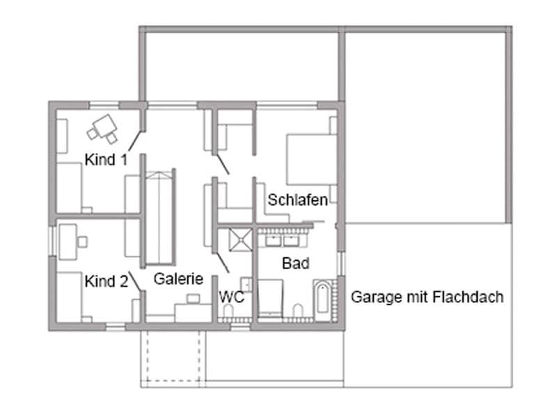 Grundriss Obergeschoss Schöner-Wohnen-Haus von SchwörerHaus
