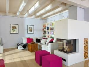 Wohnzimmer im Landhaus Motz-Russ von Baufritz