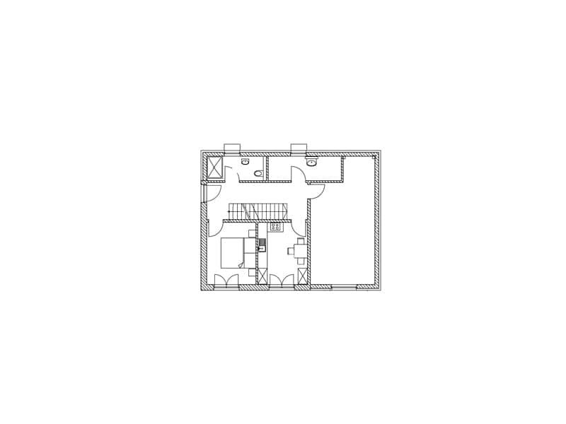 Grundriss Kellergeschoss Entwurf Gwandtner von Sonnleitner