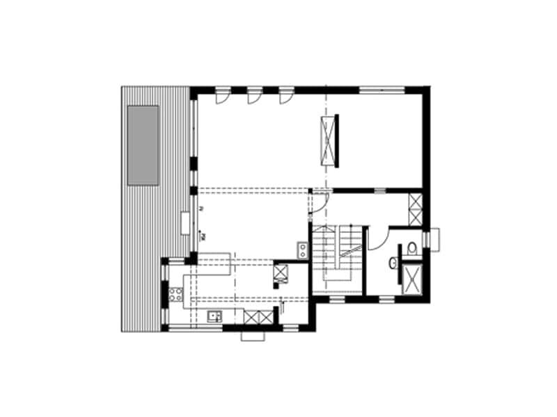 Grundriss Erdgeschoss Entwurf Hegger von Sonnleitner
