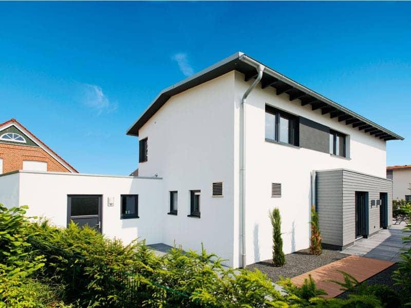 Haus Winter von Zimmermeisterhaus Außenansicht/Garage