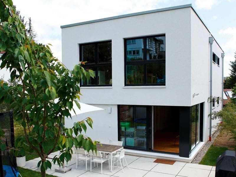 Entwurf Murano von Gussek Haus Außenansicht Gartenseite