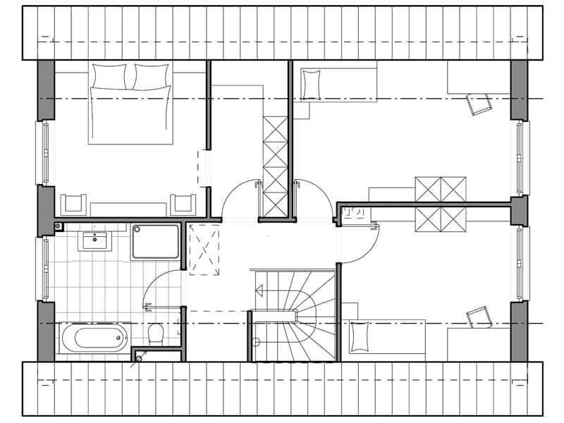 V1 von Viebrockhaus Grundriss Dachgeschoss