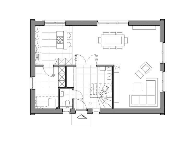 V1 von Viebrockhaus Grundriss Erdgeschoss