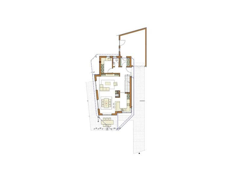 Grundriss Erdgeschoss Haus Winter von Zimmermeisterhaus