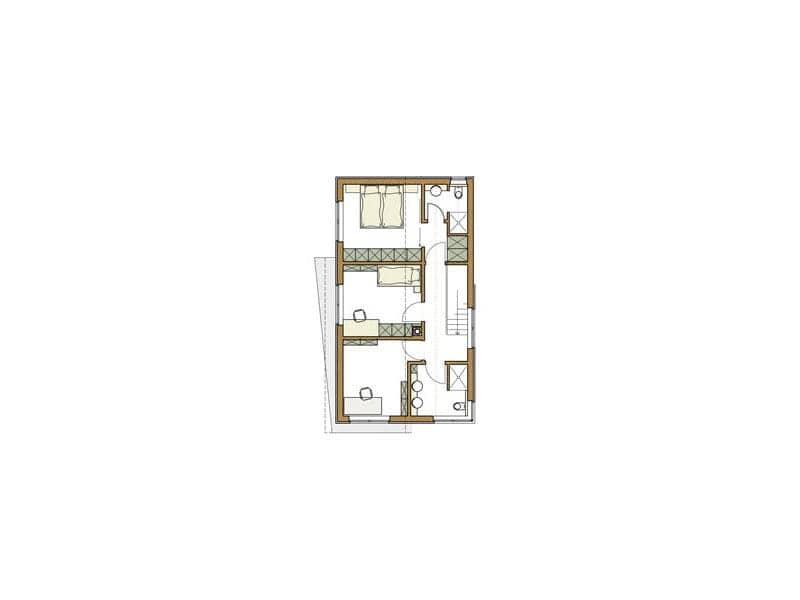 Grundriss Obergeschoss Haus Winter von Zimmermeisterhaus