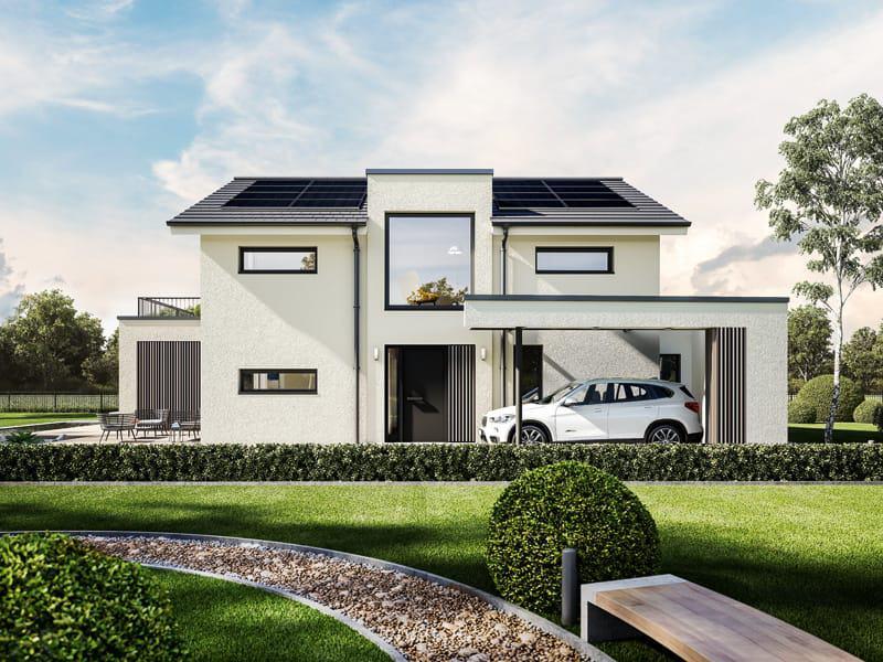 Entwurf Concept-M 154 Hannover von Bien-Zenker Außenansicht Carport